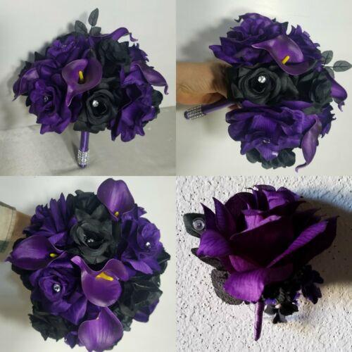 Purple Black Rose Calla Lily