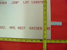 14 X 12x 14 Aluminum 6061 Sheet Plate 250 Thick T6 New Flat Mill Bar Stock