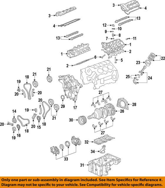 gm oem engine crankshaft main bearing 12648786 ebay rh ebay com Wheel Bearing Assembly Diagram engine bearing diagram