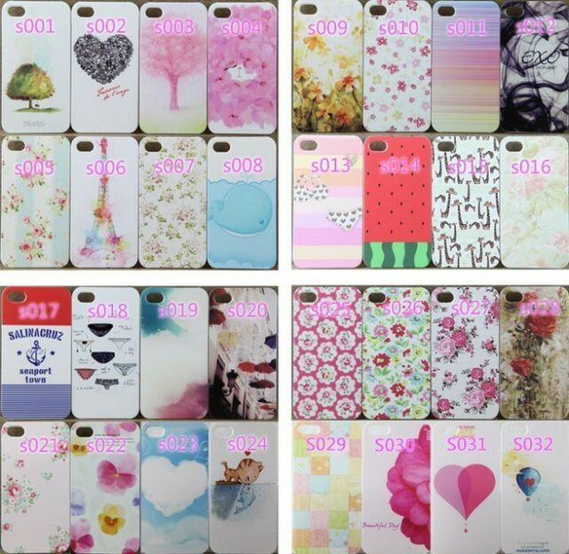 56 Styles Painted Pattern Phone Hard Back Skin Case Cover For IPhone4 4S 5 5S