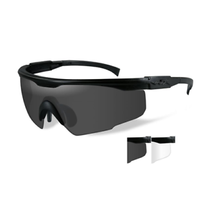 aa68c973c85 Wiley X WX PT-1 Sunglasses Black Frames with 2 Lenses (Smoke Clear ...