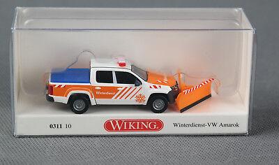 Wiking 031110//0311 10 h0, 1:87 VW Amarok con quitanieves servicio de invierno nuevo!