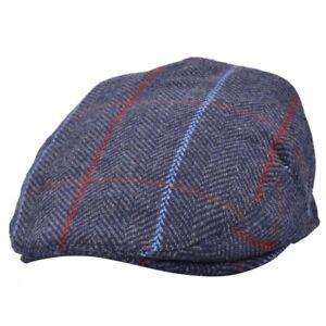G H Herringbone Blue Flat Cap Great Horse 70% Wool 30% Polyster  03157016fcf1