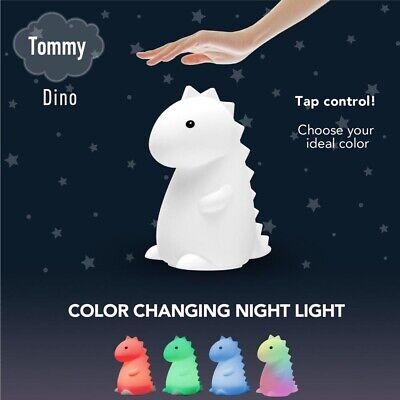 Tommy Dinosaur White Multicolor Changing LED Dino Tiktok Night Light Tik Tok NEW