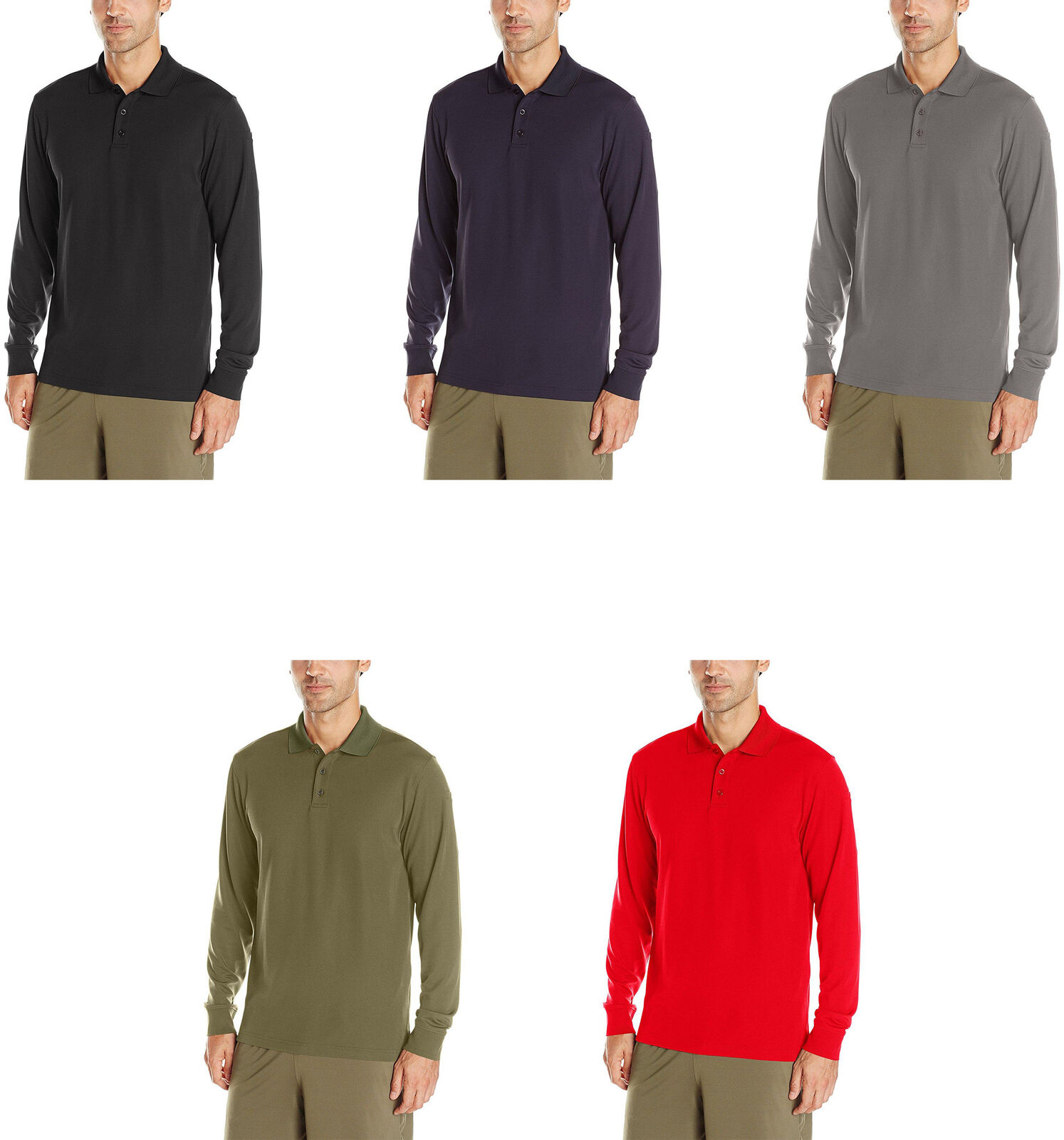Under Armour Mens Tactical Performance Long Sleeve Polo 5 Colors