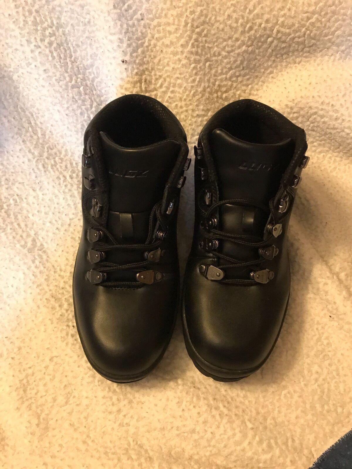 Mens Black Lugz Steel Toe Boots Size 8.5