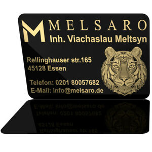 Goldfarbig Bedruckt 0.76mm Plastikkarten Visitenkarten PVC Karten Einseitig