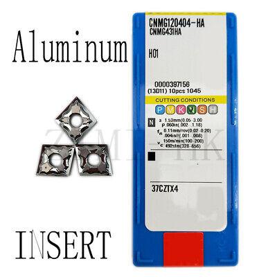 10pcs//Set CNMG432-HA CNMG120408-HA H01 CNC Turning Inserts Metalworking Tool
