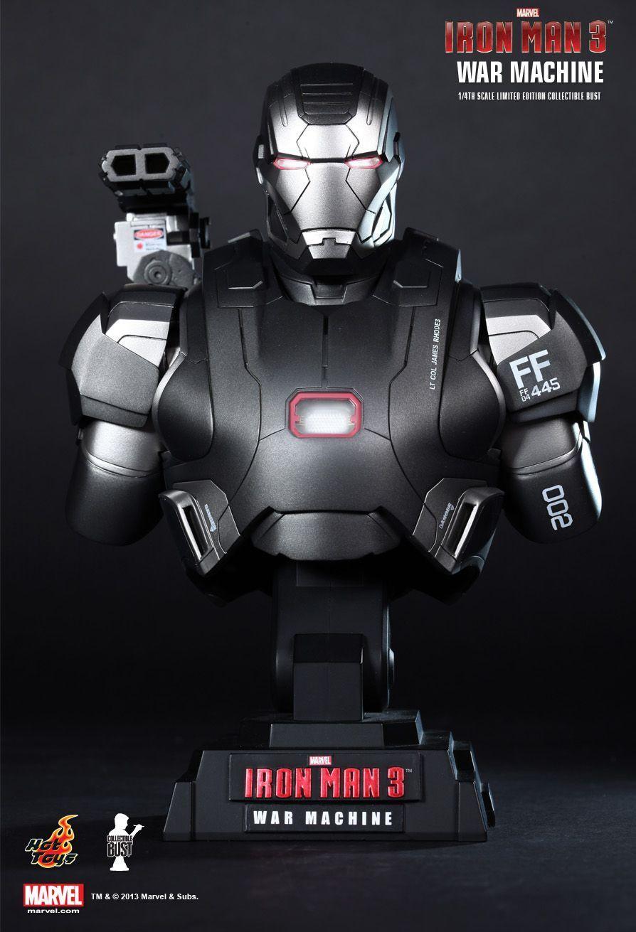 HOTTOYS Ironman 3 Iron Man 3 máquina de guerra Busto De Escala 1/4