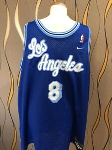 Details about RARE AUTHENTIC Nike Kobe Bryant Los Angeles Lakers Blue Throwback Jersey #8 XXL