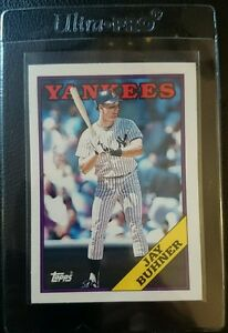 1988 TOPPS TRADED #21T JAY BUHNER ROOKIE CARD RC NEW YORK YANKEES MINT
