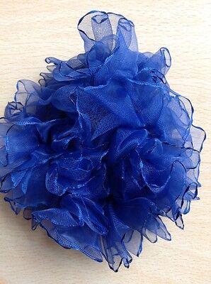 2  Pieces Navy Blue Hair Scrunchie Elastic Bobbles Ponytail band//ponio
