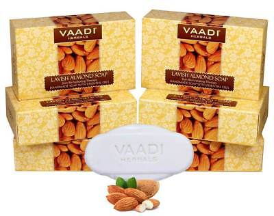 Vaadi Herbals Lavish Almond Soap Cleanses Skin Keep Your Skin Soft 75g Pack Of 6 Health & Beauty