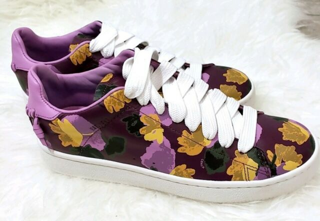 Coach Womens Shoes Leather Lo-top