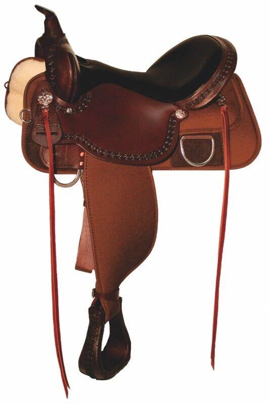 High Horse By Circle Y Magnolia Cordura Trail Saddle, New 16  6909-1601-05
