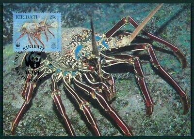 Effizient Kiribati Mk 1998 Fauna Dornen-languste Lobster Langouste Maximumkarte Mc Cm En57