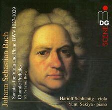 Hariolf Schlichtig - Sonatas for Viola Da Gamba & Piano: Organ Chorales [New SAC