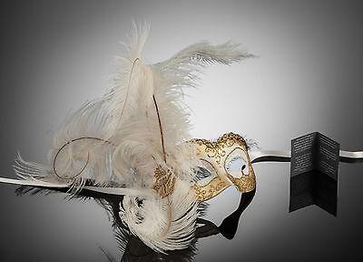 original Venetian Mask Eye mask with Feathers Carnival Masked ball Carnival