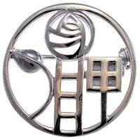 Sterling Silver Charles Rennie Mackintosh Brooch & Gift Box
