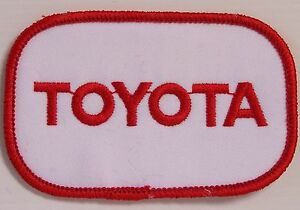 VINTAGE-TOYOTA-EMBROIDERED-PATCH-92x58mm-WOVEN-CLOTH-BADGE-SEW-ON-MOTOR-RACING