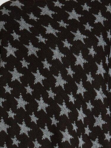 CASPAR Damen Woll Poncho Sternen Muster XXL Strick Schal Winter Cape Warm NEU