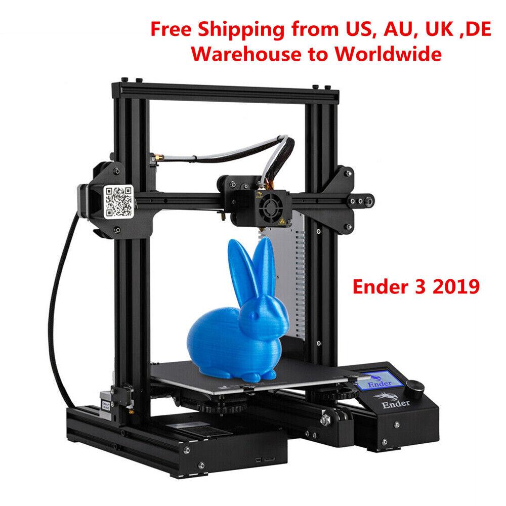 Newest Creality Ender 3 3D Printer 220X220X250mm DC 24V 1.75mm PLA 2019 220x220x250mm 24v Creality ender newest pla printer