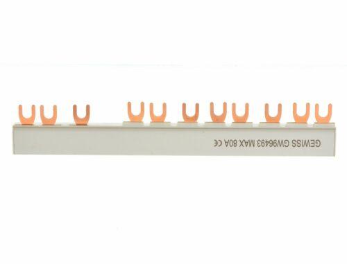 Gewiss GW96493 Phasenschiene FI+8xLS 3 phasig Gabelkammschiene
