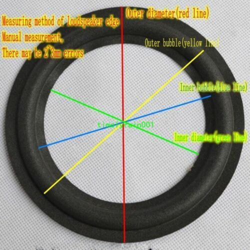 """10pcs 5.5/"""" inch Speaker Foam Edge Speaker Surround Home Audio Repair DIY"""