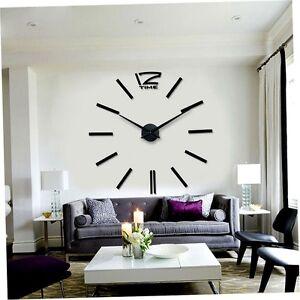Living-Room-Large-Art-Design-3D-DIY-Hanging-Wall-Clock-Modern-Decoration-gg