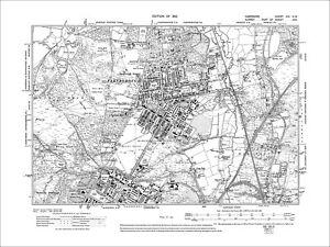 Farnborough Aldershot N Old Map Hampshire 1912 21nw Ebay