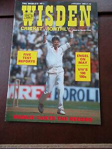 WISDEN-CRICKET-MONTHLY-MAGAZINE-JAN-1989-ENGEL-ON-MAY-VIV-039-S-100-100s-TESTS
