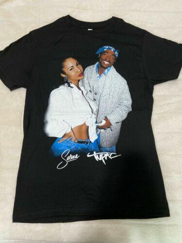 Selena Quintanilla and Tupac T-shirt Black S-5XL 2pac Hip Hop Rap pop Fashion
