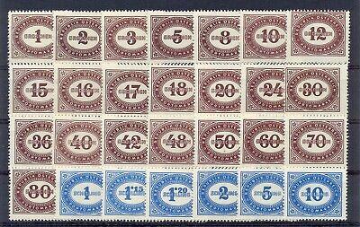 Briefmarken Porto Ank 204-231** Ziffernzeichnung Kompletter Satz Top-postfrisch Österreich Ab 1945