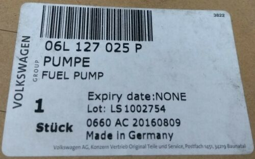 Genuine Audi VW Seat Skoda 2.0 TFSI Motor de gasolina bomba de combustible de alta presión