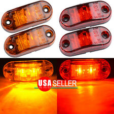 "Red &Yellow Clearance 2 Diode 2.5"" LED Oval Side Marker Lamp Light Truck Trailer"