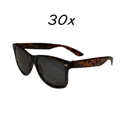 30 Stück Sonnenbrillen 80er Nerd Style Brille Retro Atzenbrille Brillen