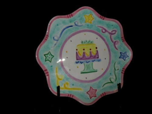 Details about  /3 PARTY CAKE ICE CREAM DESSERT CELEBRATION PLATES BY MARET