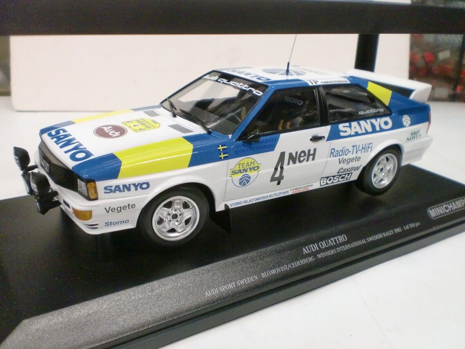 MINICHAMPS 1 18 -I QUATTRO WINNERS INT. SWEDISH RALLY 1982