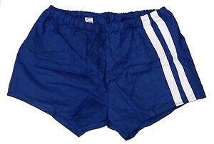 Vintage-1980s-Ex-Army-Shorts-navy-blue-white-stripes-hot-pants-retro-sports-NEW