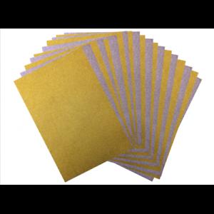 A4 TARJETA DE BRILLO cero cobertizo Pack de 10 hojas incluidas hojas de oro y plata