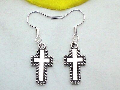 Ohrringe KREUZ filigrän Ohrhänger Hänger Kruzifix Glaube Religiös Ohrschmuck   eBay