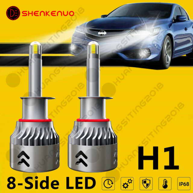 H1 8-Side LED Headlight Bulb Low Beam 200W 6000K For ACURA