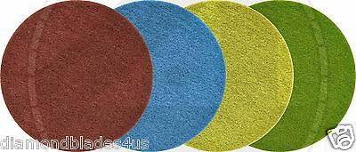 "Set 20"" Diamond Pads Polish / Grind 4 Burnishing machine polish concrete stone"