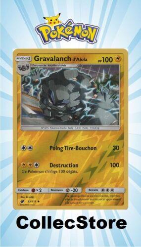 SL4 Invasion Carmin ☺ Carte Pokémon Gravalanch d/'Alola REVERSE 33//111 VF NEUVE