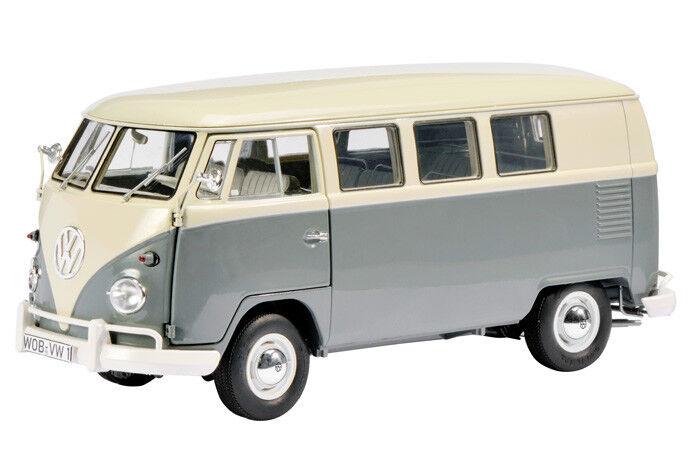 450037500 Schuco 1 18 VW T1 Bus perl white white white grey - NEW + S&H FREE cd9782