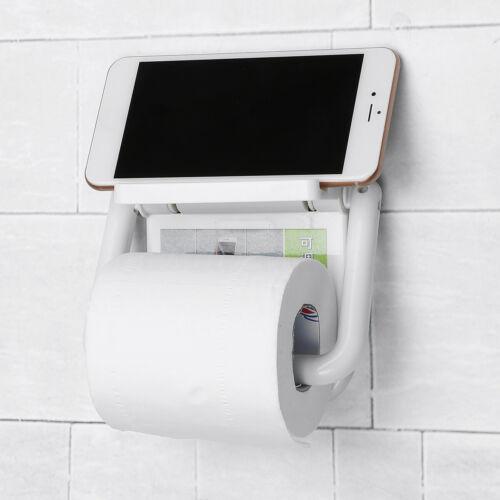 Roll Paper Holder Toilet Kitchen Tissue Towel Storage Organizer Hanging Rack ..