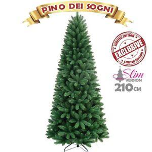 Albero Di Natale Ebay.Albero Di Natale Slim Pino Dei Sogni Altezza 210 Cm Base A Croce 850 Rami Ebay