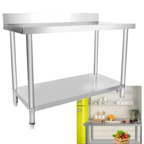 Edelstahl Arbeitstisch Hygienisch Gastronomie Küchentisch Edelstahltisch 120cm