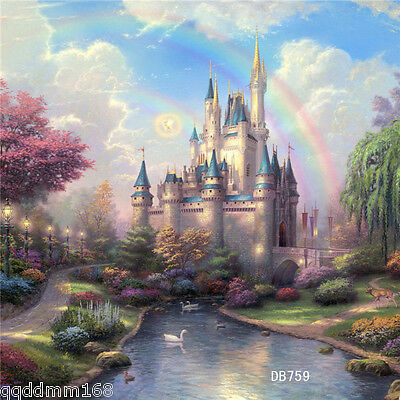 vinyl photography backdrop background Studio Prop 10X10FT DB759 Castle Scenery