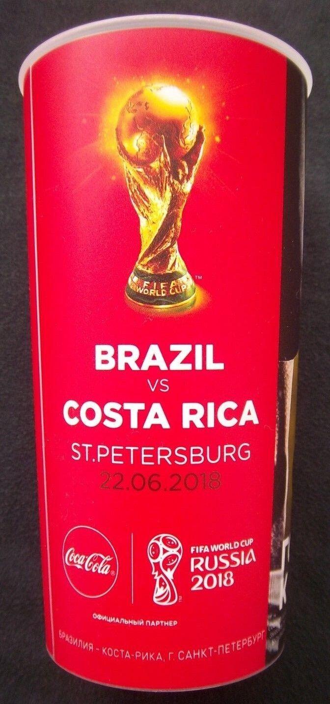 Orig.Becher  WM   Weltmeisterschaft RUSSLAND 2018  BRASILIEN - COSTA RICA     25    Ab dem neuesten Modell